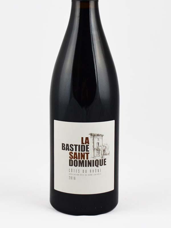 Bastide Saint-Dominique rouge bio étiquette