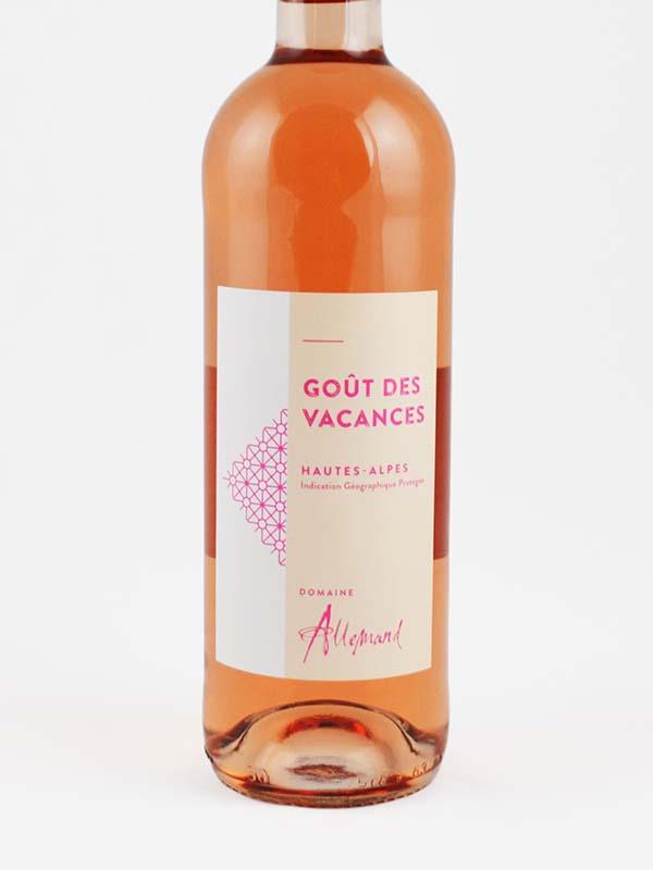 Domaine allemand rosé goût des vacances étiquette