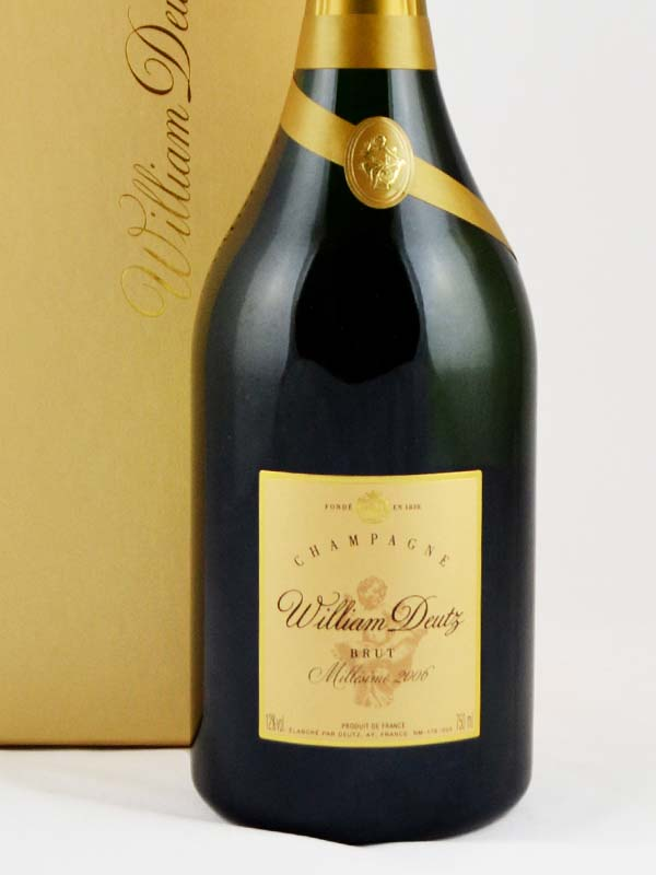 champagne william deutz brut millesime etiquette