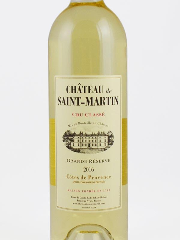 chateau saint martin blanc cru classe etiquette