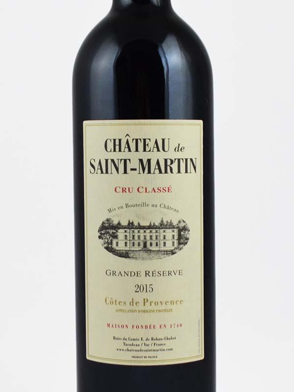 chateau saint martin rouge cru classe etiquette
