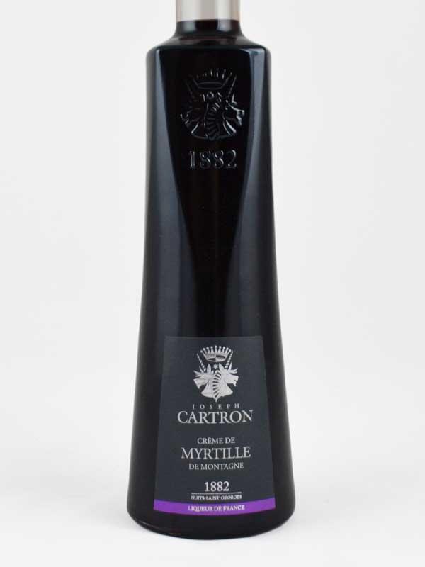 creme de myrtille joseph cartron liqueur etiquette