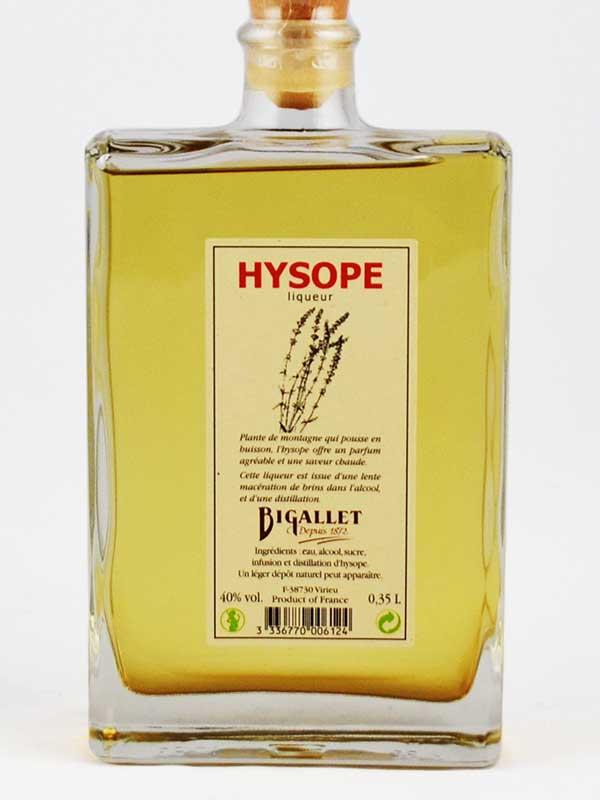 Hysope liqueur bigallet étiquette