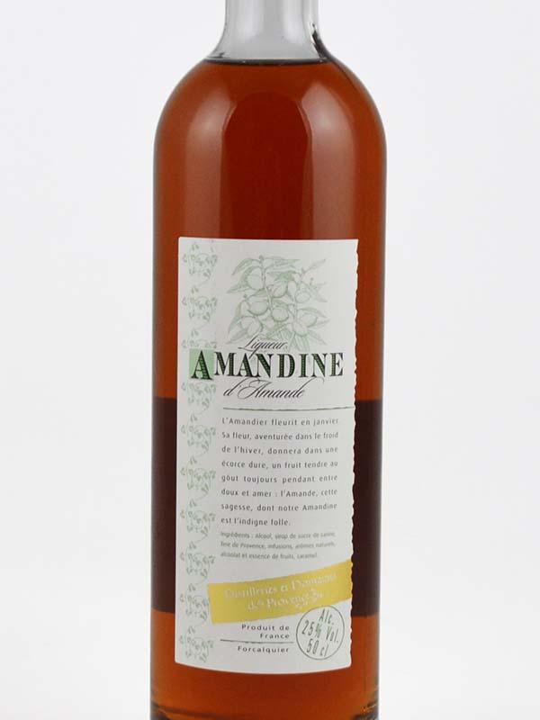 liqueur d'amande amandine 25 degres etiquette