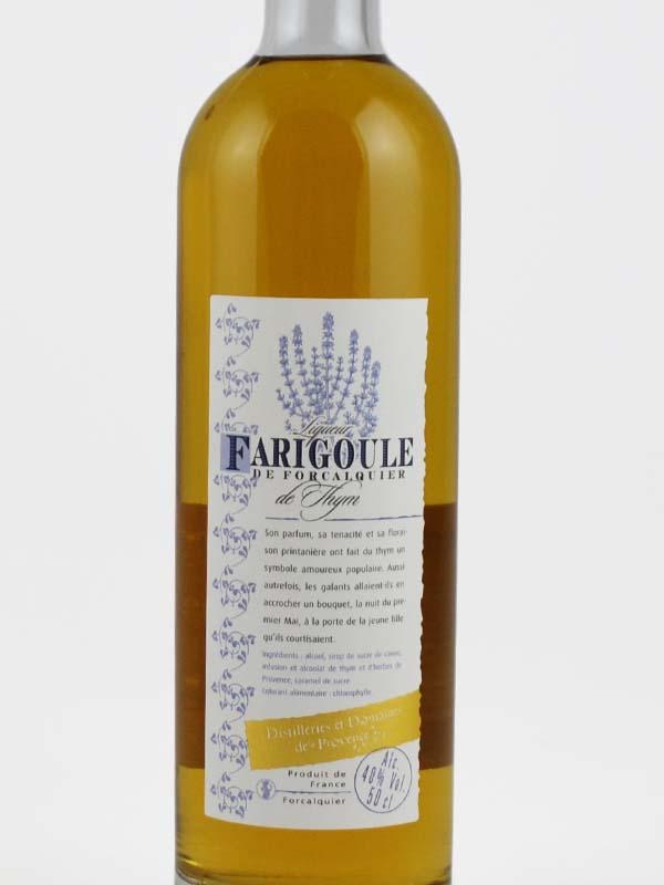 liqueur de thym farigoule 40 degres etiquette