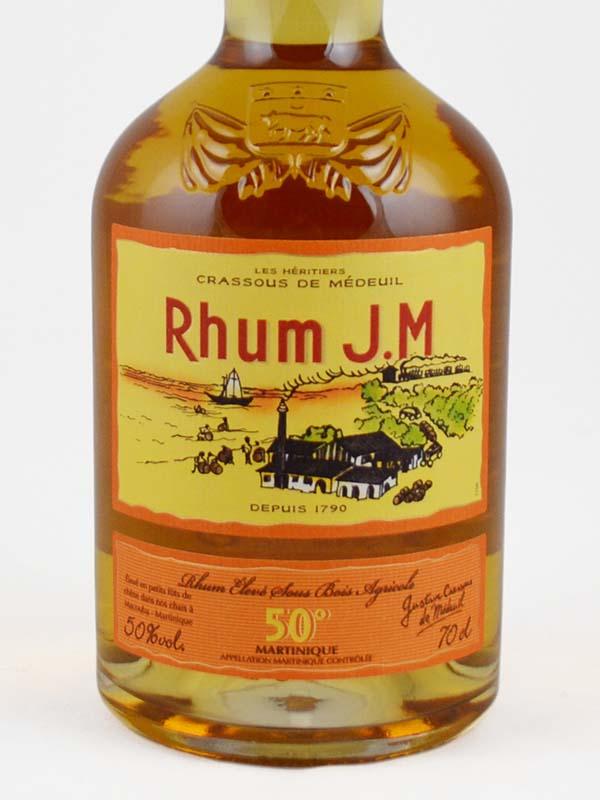 rhum ambre JM martinique 50 etiquette