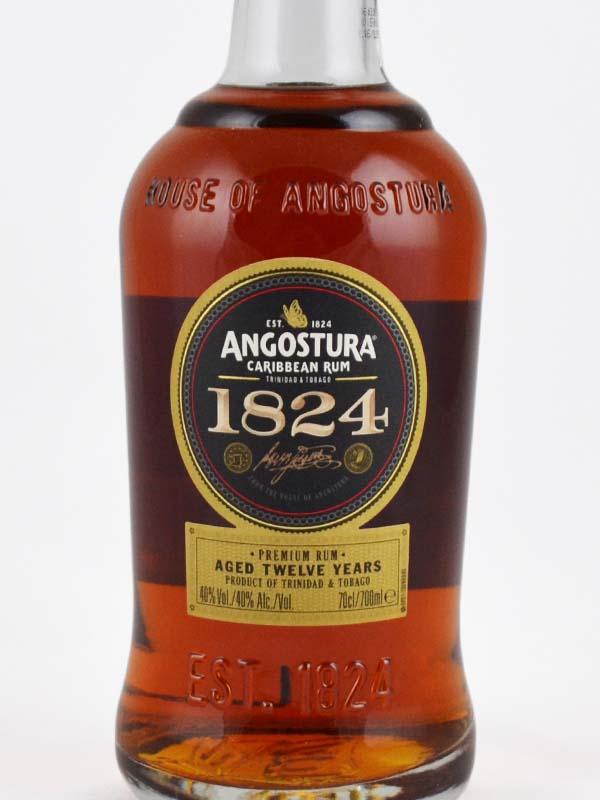 rhum angosturia 1824 etiquette