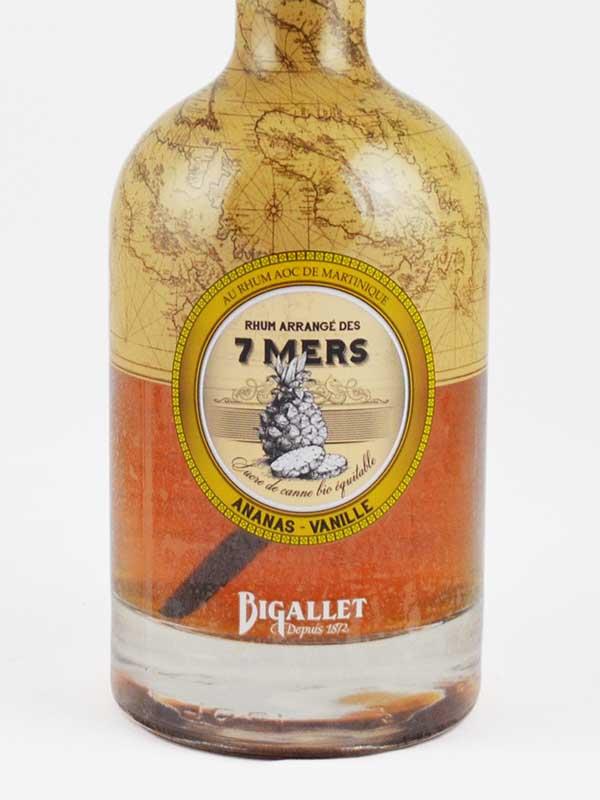 Rhum arrangé ananas vanille Bigallet étiquette