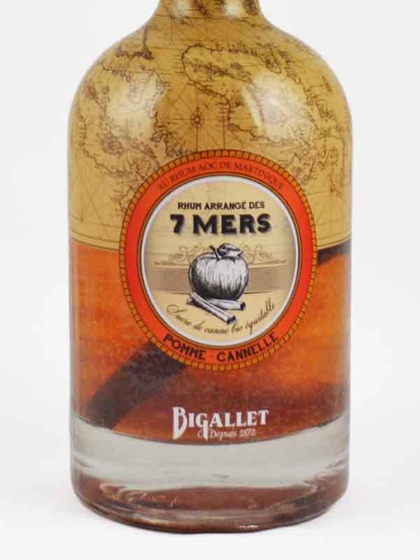 Rhum arrangé pomme cannelle Bigallet étiquette