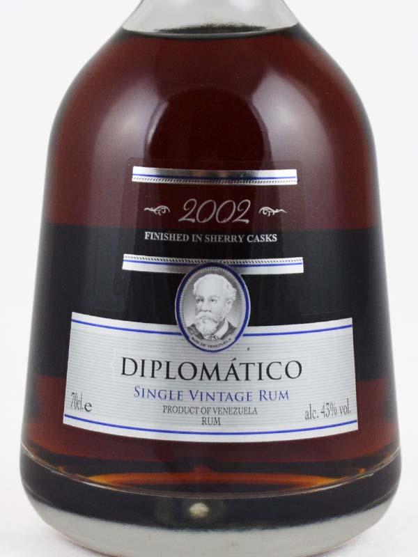 rhum diplomatico 2002 etiquette