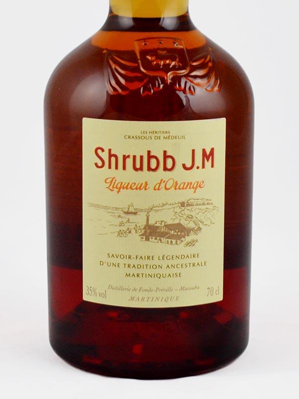shrubb JM liqueur d'orange etiquette