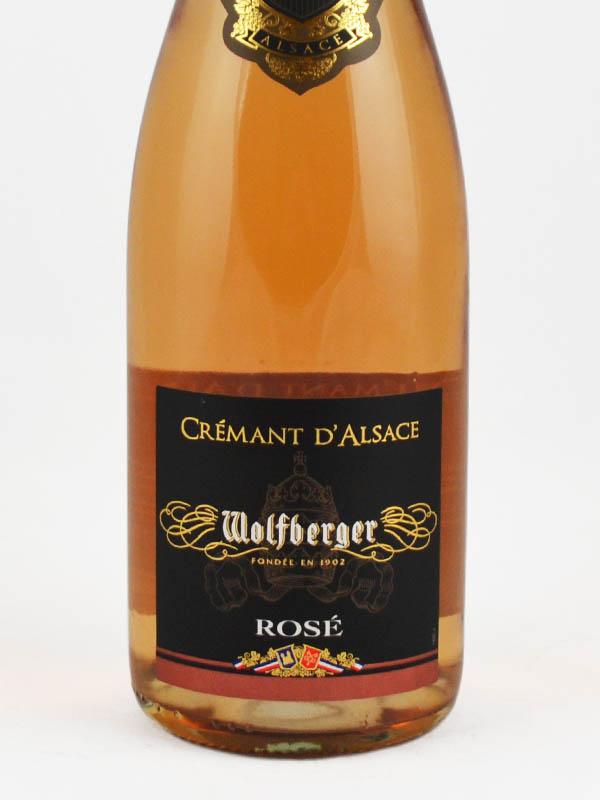 cremant alsace wolfberger rose etiquette