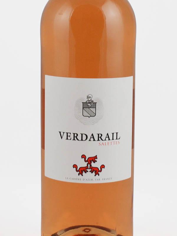 verdarail salettes rose etiquette