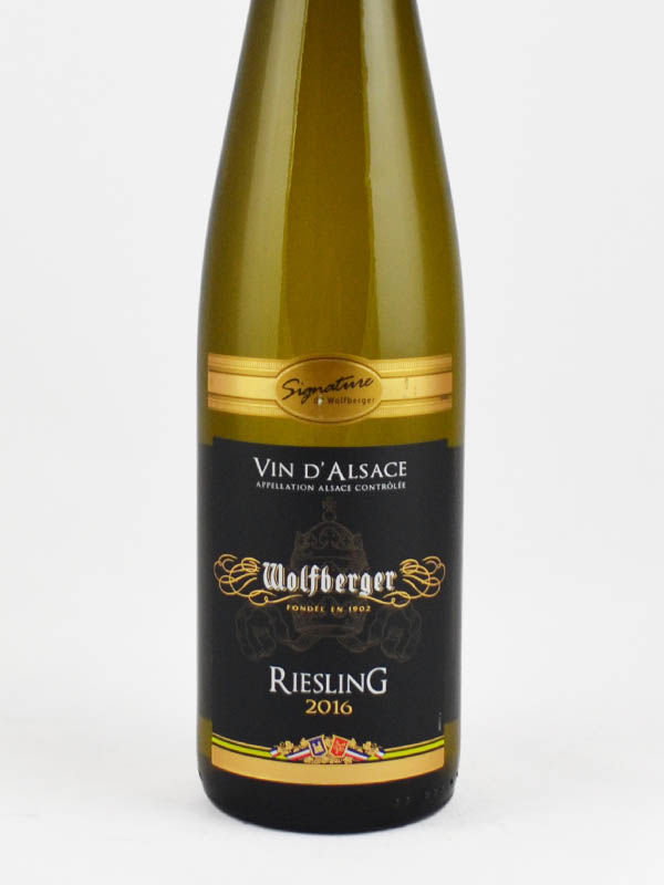 vin d'alsace wolfberger riesling etiquette