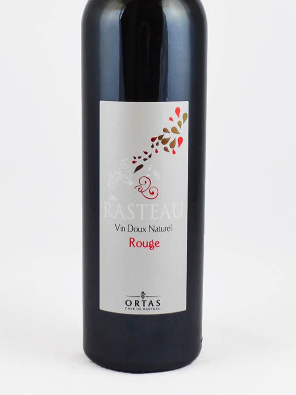 vin doux naturel rasteau rouge etiquette