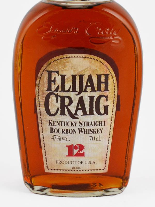 whisky bourbon elijah craig 12 ans etiquette