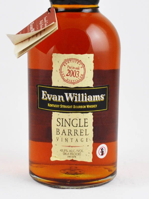 whisky bourbon evan williams etiquette