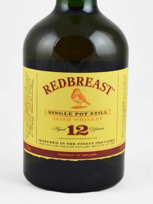 whisky redbreast irlande 12 ans etiquette
